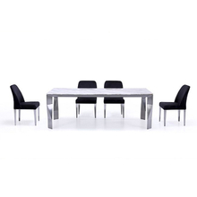 Italian Design Stainless Steel Base Marble Top Dining Table