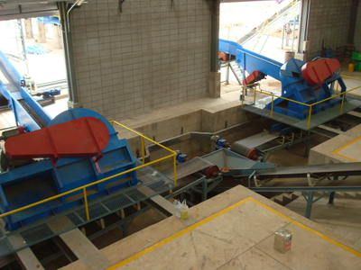 Wood chipping line plant