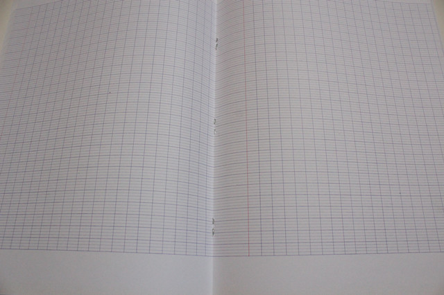 Scenery seyes notebook staple binding with margin