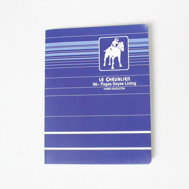 Round corner French line exercise book staple binding with margin