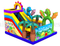 RB01055(7x6.5x5.5m) Inflatable jungle castle bouncy with Slide