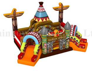 RB01038(8x6m)Inflatable Egypt Theme funcity Obstacle Bouncer with Slide
