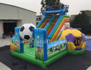 RB01016 (10x7x6m) Inflatable football castle , Inflatable funcity with Slide