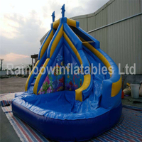 RB7041(5.1x4.8x4.2m)Inflatable Rainbow water slide with little pool