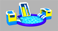 RB32009-4(Dia 10m) Inflatable giant water park with slide for children and adult
