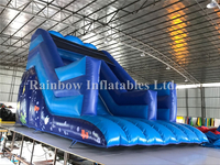 RB6078(6x4x4.5m)Inflatable Blue Underwater Dry Slide