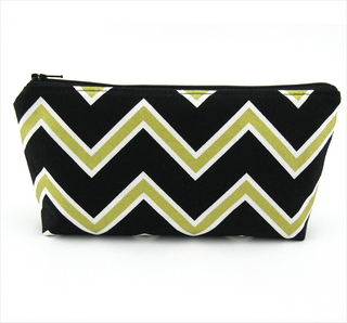 Metallic Gold Chevron Cosmetic Bag