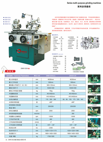 SERIES MULTI-PURPOSE GRINDING MACHINE 2M9120A(C)---2MA9125