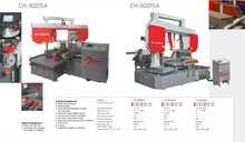 DOUBLE COLUMN FULLY AUTOMATIC BAND SAWS CH300SA-CH600SA