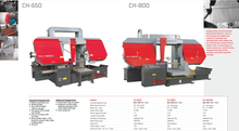 CH SERIES DOUBLE COLUMN SEMI AUTOMATIC BAND SAWS CH650-CH800