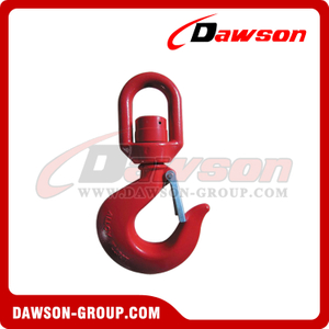 G80 / Grade 80 Swivel Hook with Bearing para levantar eslingas de cadena