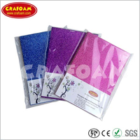 Glitter Eva Foam Sheets with OPP Bag Packing