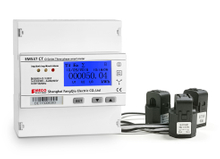 EM537 CT O series 0-3000A/330mV open core three phase kWh energy meter din rail mounted