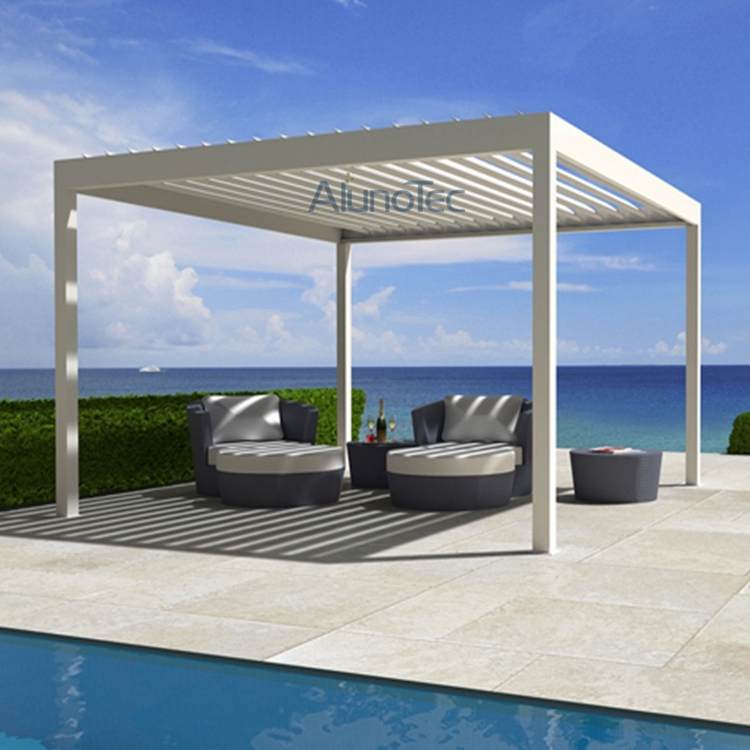 motorized louvered pergola roof waterproof pergola covers. Black Bedroom Furniture Sets. Home Design Ideas