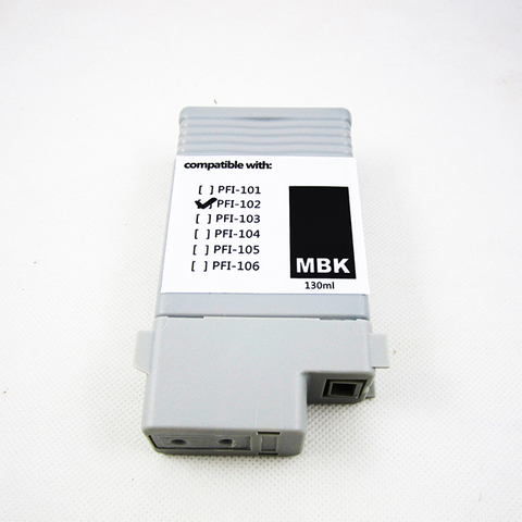Color MBK Genuine ImagePrograf PFI-102 Pigment Ink Cartridge with Chip for Canon IPF 500/600/700