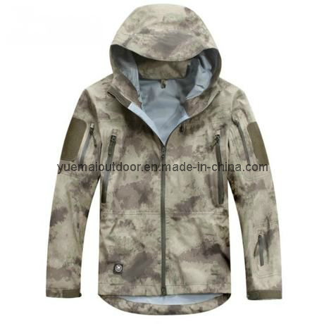 Military Hardshell Jacket with High Quality Waterproof and Breathable