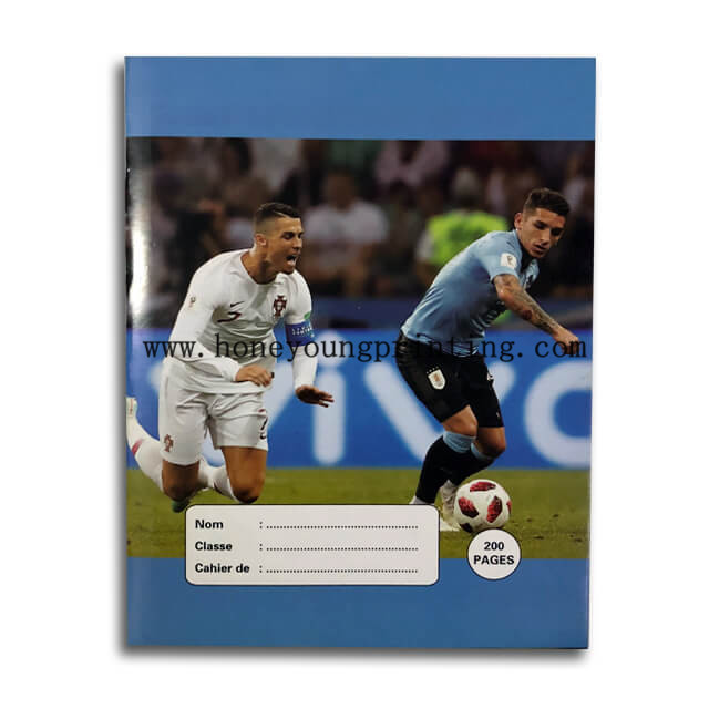 West Africa seyes football star exercise book 100 and 200 pages staple binding