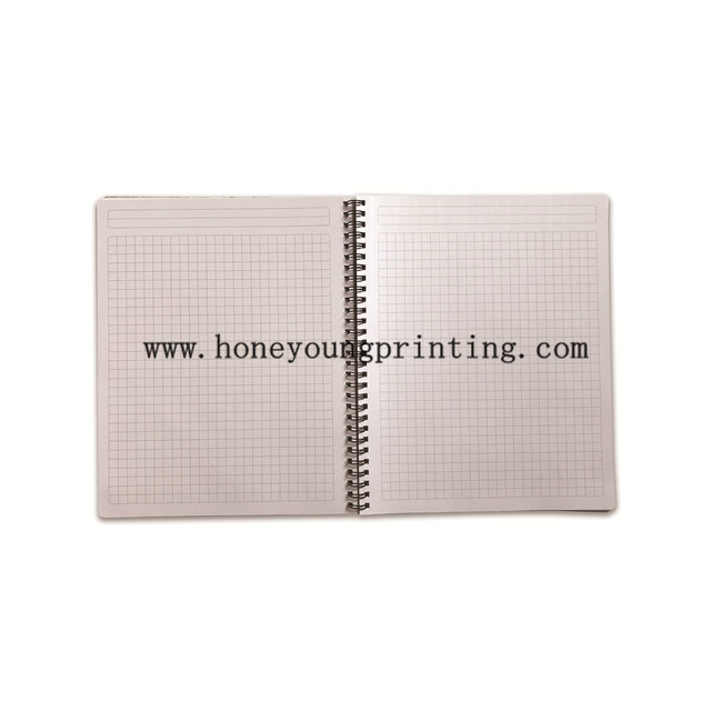 Double spiral notebook 7x7mm square 100 sheets round corner CUADERNO DOUBLE ESPIRAL