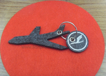 Tailored Logo Custom Shape Wool Felt Key Chain