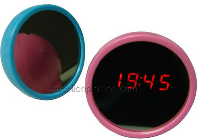Lady Promotional Gift Digital Desk Clock with Mirror