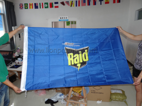 SC Johnson Raid Logo Printed Polyester Corporation Building Flag
