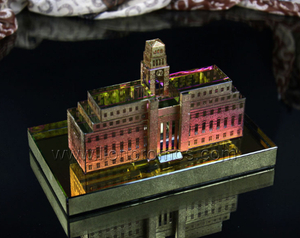 Custom Shape ASU College Building Model Crytal Trophy