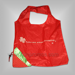 Cheap Gift Polyester Foldable Shopping Bag