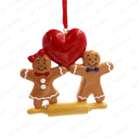 Ginger Couple Ornament Personalized Christmas Tree Ornament