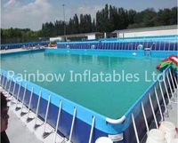 Hot Outdoor Commercial Inflatable Water Park with Frame Pool Portable Water Park