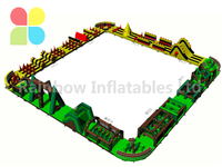 RB5202(144X5.5m) Inflatable Large 144 meters multi-functional competition Obstacle Course for adult