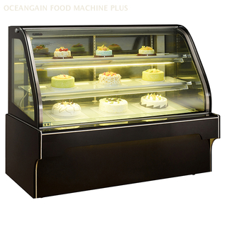 Cake Display Showcase Price Chiller with Curved Glass for Bakery Shop G328FS