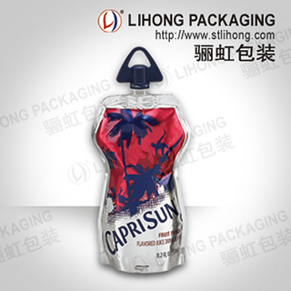Beverage Stand Up Bag with Aluminum Foil + Customized Cap