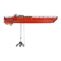 High Quality Double Girder Overhead Crane with Grab Bucket