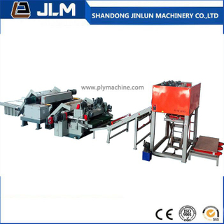 Automatic Spindle Less Veneer Peeling Lathe Wood Peeling Line