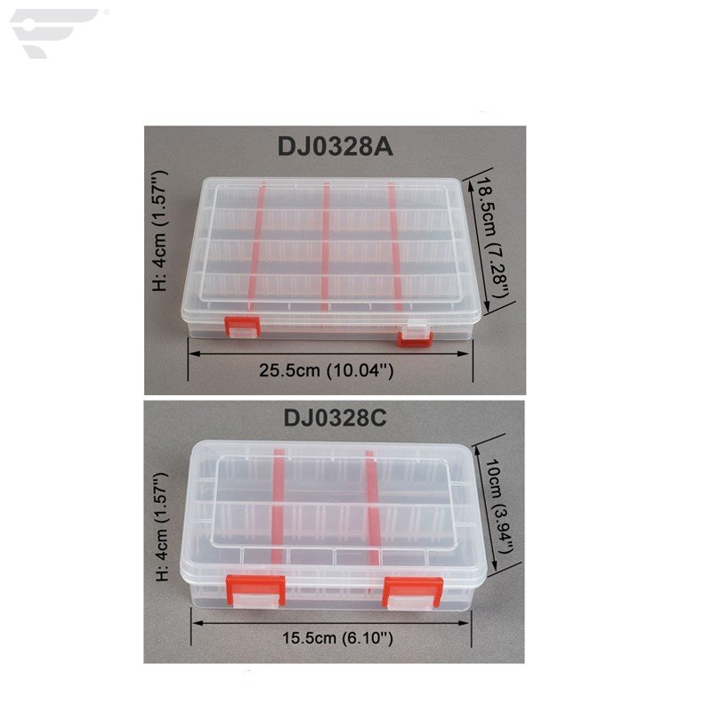 DJ0328A 16 Compartments 12 Dividers 6 Compartment Organized Plastic Box