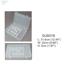 DJ0519 Large size Plastic Clear Storage Box