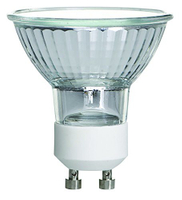 35W/GU10/120V 35-Watt MR16 Halogen Light Bulb, Glass Cover, Dimmable, 320 Lumens, GU10 Base