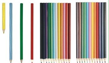 Wooden Promotional Stripe Hb Pencil