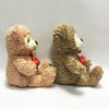 Wholesale Valentine Soft Plush Happy Teddy Bear with Love Embroidery