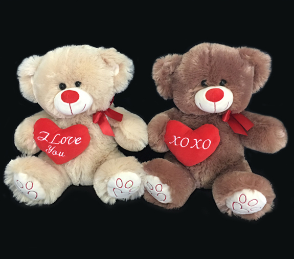Large cute Couple Teddy Bear with Heart for Valentines Gifts