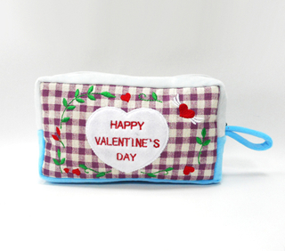 New Design Valentine Plush Fancy Pencil Bag Children Stationery Bag