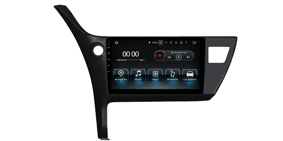 Car DVD GPS Navigation Wifi Radio Android 8.0 For Toyota Corolla 2012 (Fits: Corolla)