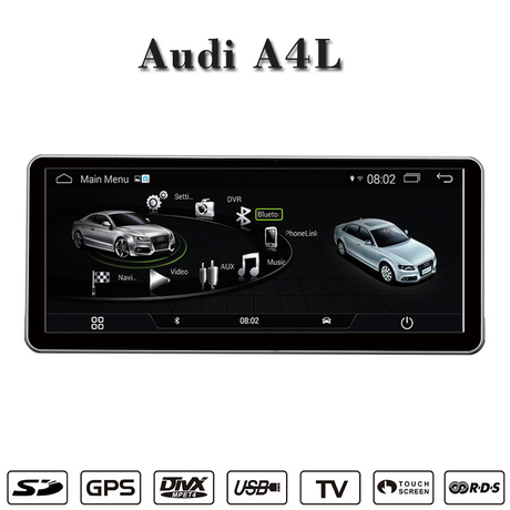 "10.25""Audi A4L android 6.0 radio gps navigation 3G Internet or wifi connection"
