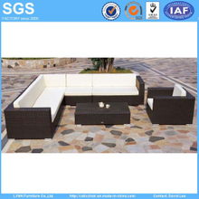 Modern Resort Hotel Furniture PE Rattan Cube Sofa Set