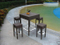 PE Rattan Bar Table and Stools Outdoor Bar Furniture