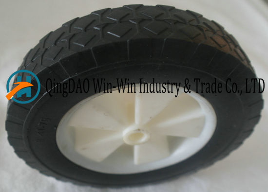 Flat Free PU Wheels with Spoke Color and Rim