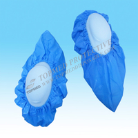CPE shoe cover- blue