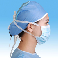 Surgical Face Mask Disposable Tie-on 3 Ply Nonwoven Face Masks