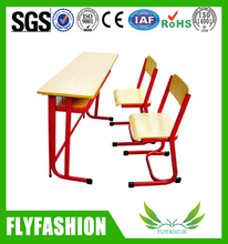 Middle School Wooden School Furniture Desk and Chair (SF-21D)