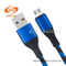 USB Black-Blue Braided Charging Data Cable for Android